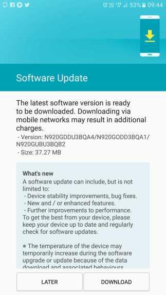 Samsung Galaxy Note 5 and Samsung Galaxy S5