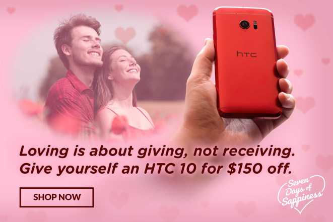 HTC 10, HTC One M9 and HTC One A9 Valentine's Day Deals