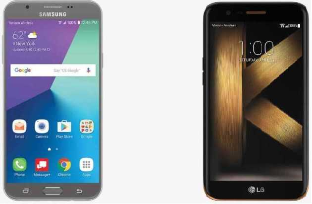 LG K20 V and Samsung Galaxy J7 V