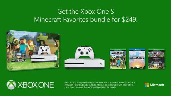 Minecraft Xbox One S