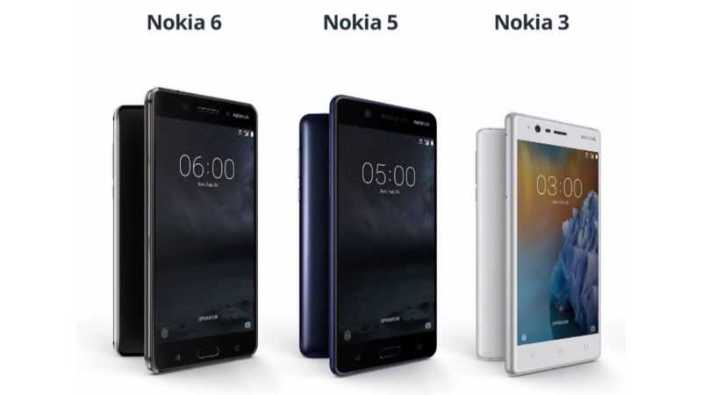 Nokia 3, Nokia 5, Nokia 6 and Moto G5 and G5 Plus