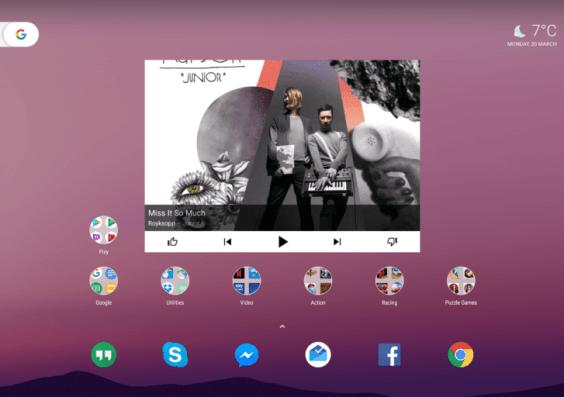 Google Pixel C, Android 7.1.2 Nougat