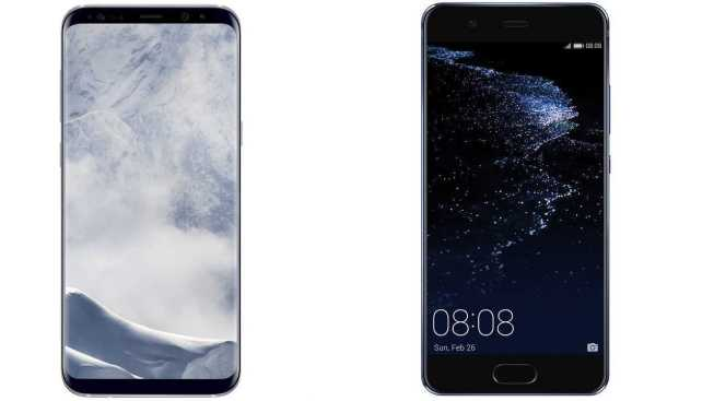 Samsung Galaxy S8+ vs Huawei P10 Plus