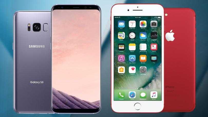 Samsung Galaxy S8 vs iPhone 7