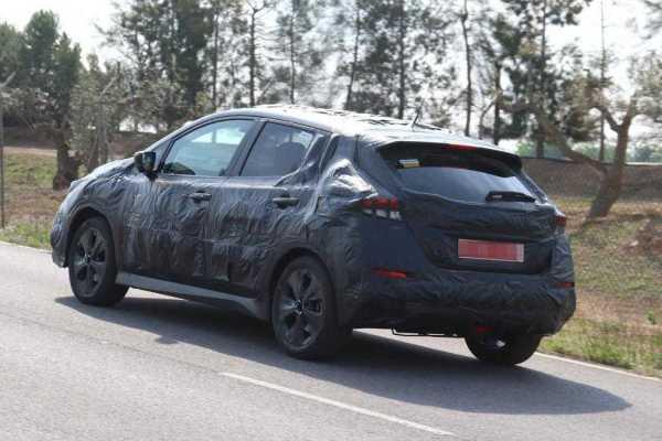 Nissan Leaf EV Spied
