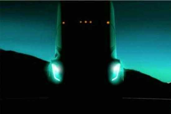 Tesla All-Electric Truck Teaser