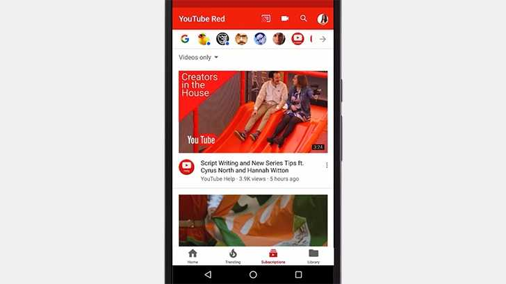 YouTube app gets new UI with tabs at the bottom