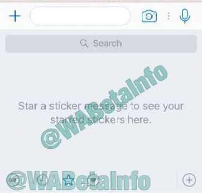 WhatsApp Starred Stickers Ios