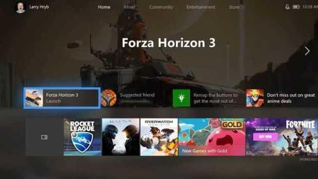 Xbox One fluent design