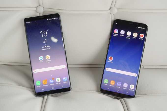 Samsung Galaxy S8+ and Samsung Galaxy Note 8
