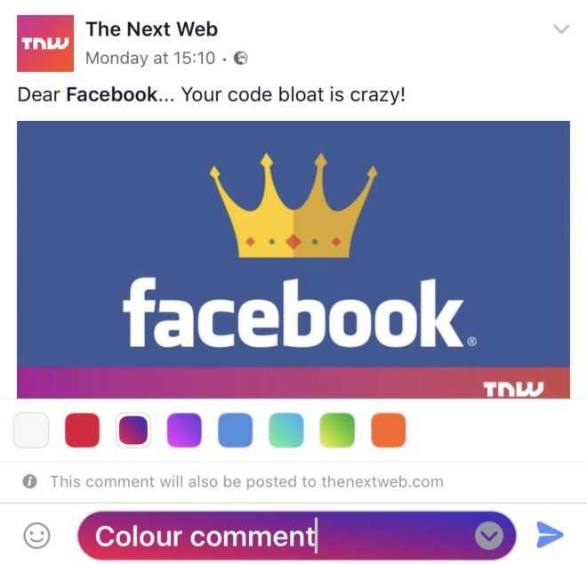 Facebook Comments to Soon Get Colored Backgrounds
