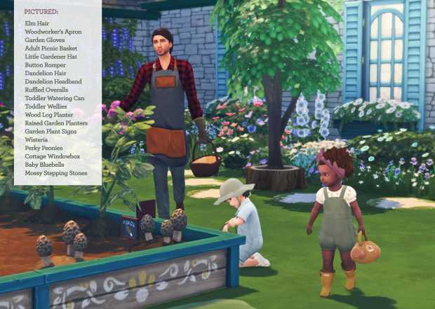 The Sims 4 Fan Made Cottage Garden Stuff Pack