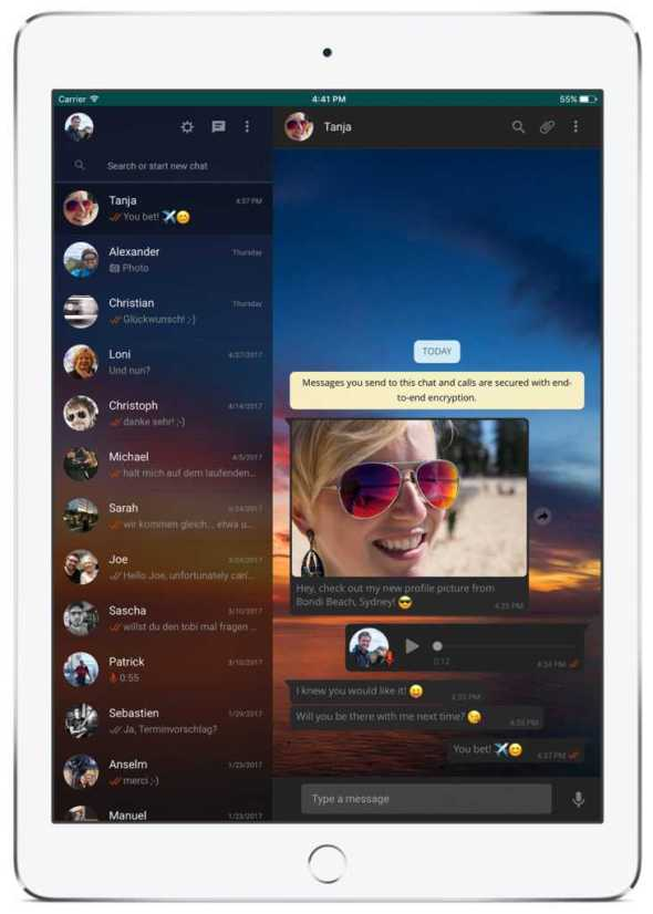 Whatsapp UI for iPad in Development, Launches In-line Youtube