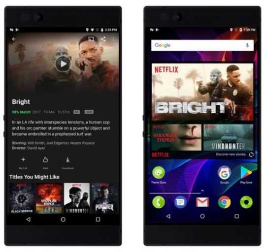 Netflix Partners with Razer Phone to Deliver HDR, Surround Sound CES 2018