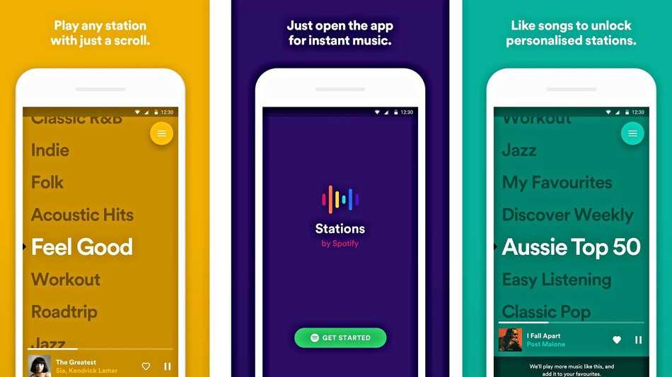 Spotify Tests Free Stations App for Leanback Listening