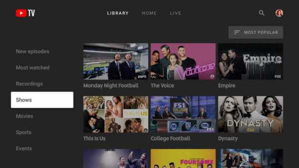 Youtube TV App Lands on Apple TV