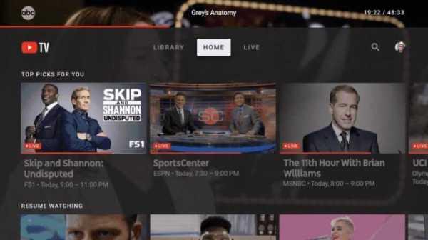 Youtube TV App Lands on Apple TV Right Before Super Bowl