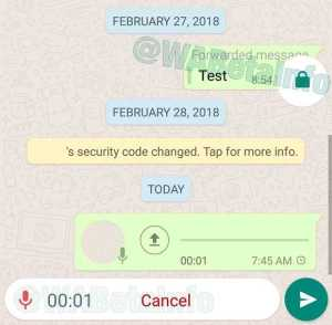 WhatsApp Locked Recording