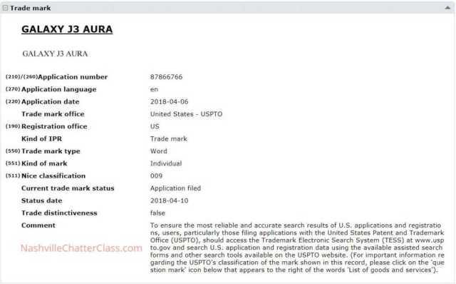 Galaxy J3 Aura