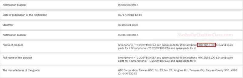 HTC U12+ EEC