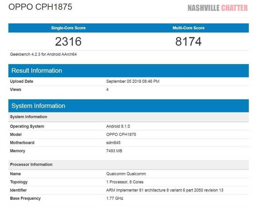 Oppo CPH1875
