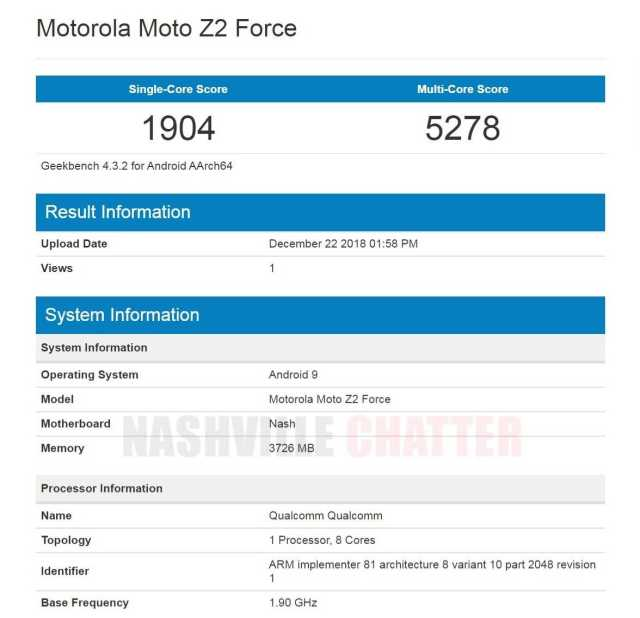 Moto Z2 Force Android Pie