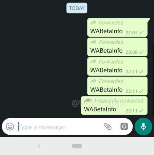 Whatsapp Business frequently forward