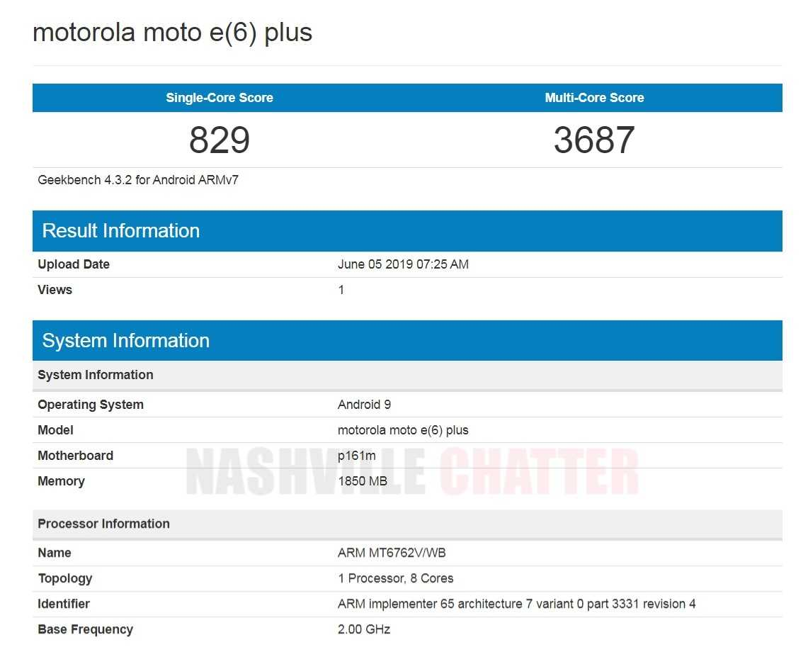 Motorola Moto E6 Plus reveals Helio P22 chipset on Geekbench