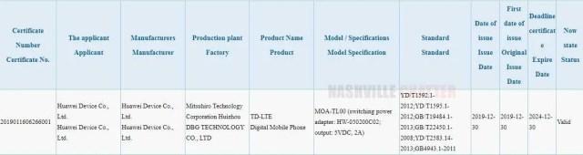 Huawei MOA-AL00
