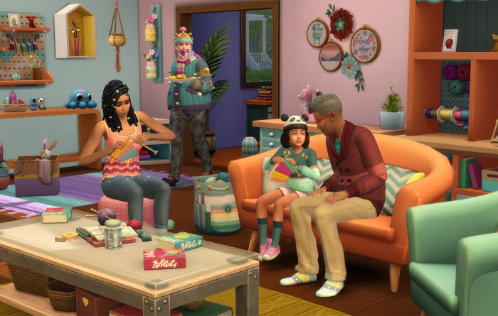 Sims 4 Nifty Knitting pack