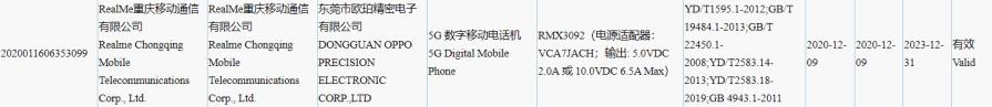 Realme RMX3092