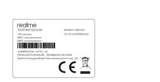 Realme RMX3261 Label