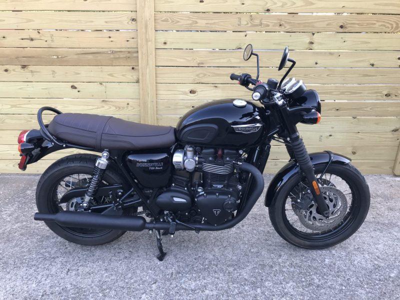 Sold: 2017 Triumph Bonneville T120 Black