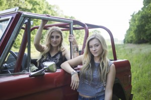 """Maddie & Tae's """"Girl In A Country Song"""" (directed by TK McKamy) was named CMA Music Video of the Year live on """"Good Morning America"""" Wednesday from the Bridgestone Arena Plaza in Nashville. Photo Credit: Allister Ann"""