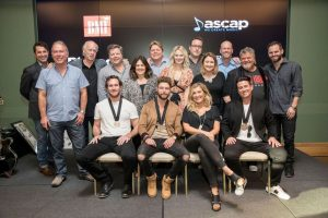 Pictured L-R: (back row) ASCAP's Michael Martin, Round Hill Music's Mark Brown, Big Yellow Dog's Kerry O'Neil, BMI's Bradley Collins, Big Yellow Dog's Carla Wallace, BMI's David Preston, ASCAP's Beth Brinker, Big Loud Records' Joey Moi, Major Bob Music's Tina Crawford, Big Loud Records' Clay Hunnicutt, Craig Wiseman, and Seth England  (front row) Abe Stoklasa, Chris Lane, Sarah Buxton, and Jesse Frasure Photo Credit: John Russell