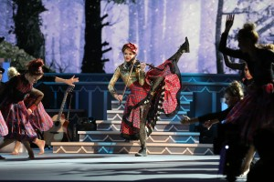 """Lindsey Stirling performs on """"CMA Country Christmas,"""" taped at the Grand Ole Opry House in Nashville and airing Thursday, Dec. 3 at 8/7c on the ABC Television Network."""
