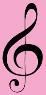 Preshias music notes graphic crop black pink