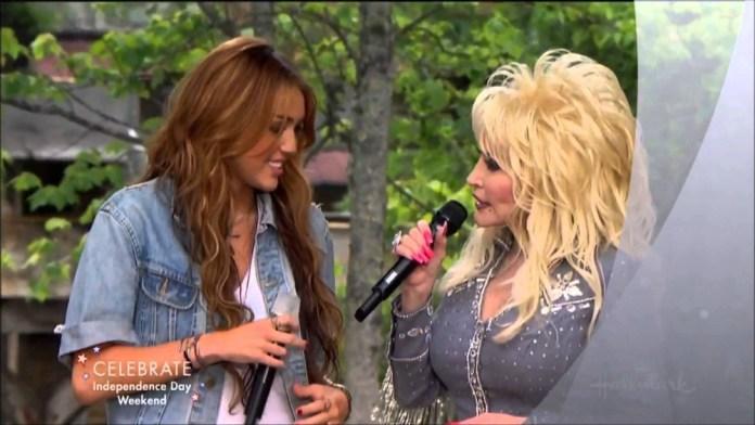 Miley Cyrus Dolly Parton Rainbowland