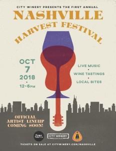 City Winery Nashville Harvest Festival