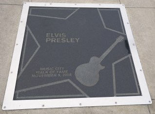 Elvis' marker at the Music City Walk of Fame.