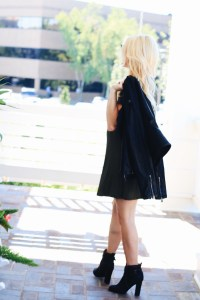 leather jacket and booties; fall fashion trends. Nashville Wifestyles