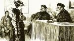 Женщина перед судом. Изображение 1903 года