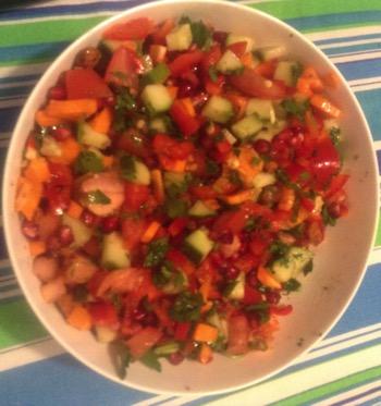 Pomegrante and Walnut Salad