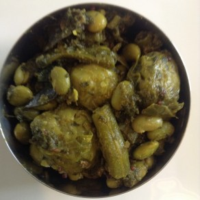 Brussel Sprouts, green beans and Edamam Beans
