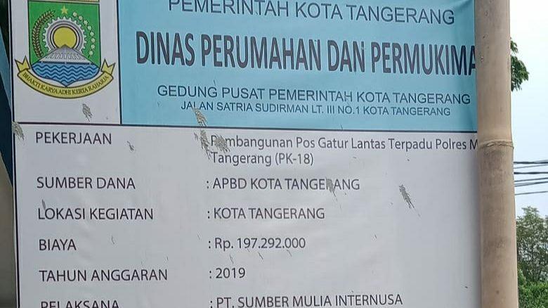 Pos Gatur Lantas Polres Metro Tangerang Kota