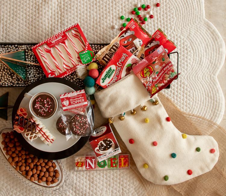 holiday candy, holiday chocolate, Christmas candy, Christmas chocolate, Christmas traditions, Christmas cocoa, cocoa toppers, ribbon candy, candy canes.