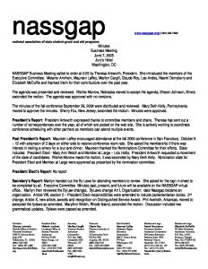 2005 NASSGAP BUSINESS MEETING 6 7 pdf 1 - 2005-NASSGAP-BUSINESS-MEETING-6-7-pdf-1
