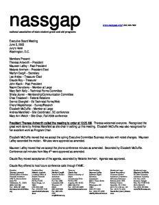 2005 NASSGAP Exec Committee Meeting 6 5 pdf 1 - 2005-NASSGAP-Exec-Committee-Meeting-6-5-pdf-1