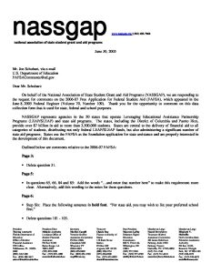 2006 07 FAFSA NASSGAPs Comments 6 30 06 pdf 1 232x300 - 2006-07-FAFSA-NASSGAPs-Comments-6-30-06