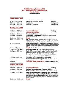 2006 Spring Conference Tentative Agenda 030806 pdf 1 - 2006-Spring-Conference-Tentative-Agenda_030806-pdf-1